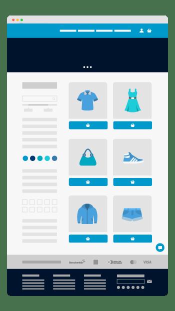 ecommerce tiendas virtuales tiendas en línea Zero Azul